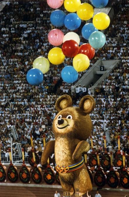 Олимпийский мишка - символ России и Олимпиады 80