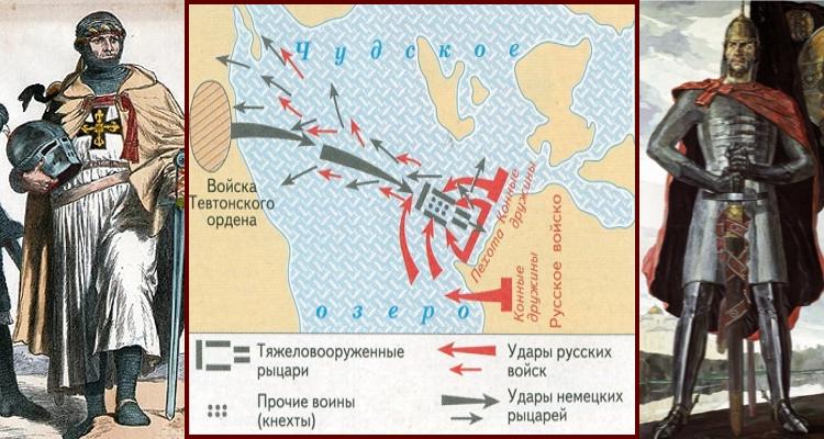 Ледовое побоище на карте