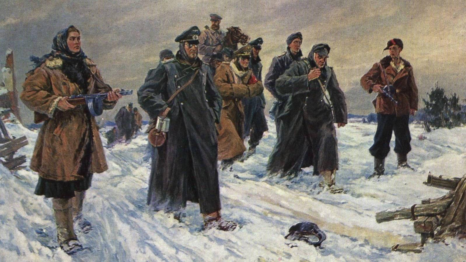 Партизаны взяли немца