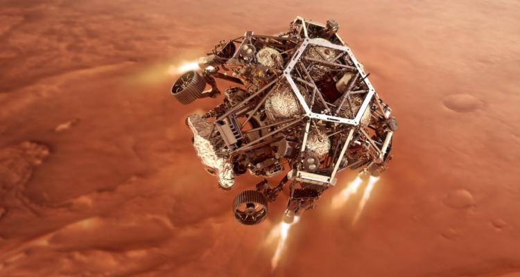 Приземление марсохода