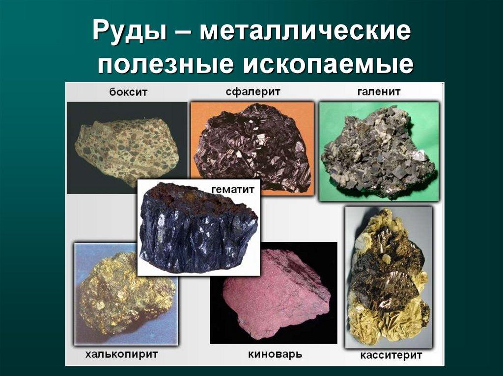 Руды - металлические полезные ископаемые