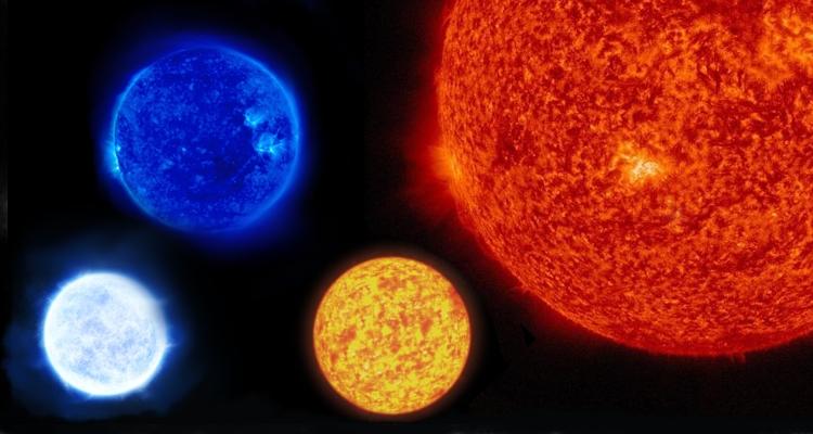 Разные цвета звезд