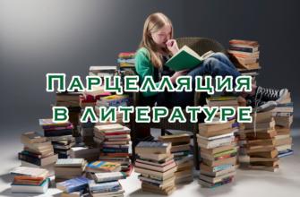 Парцелляция в литературе