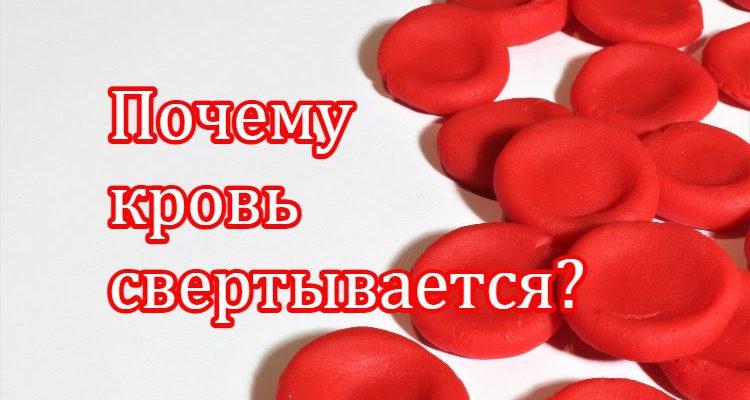 Почему кровь свертывается?