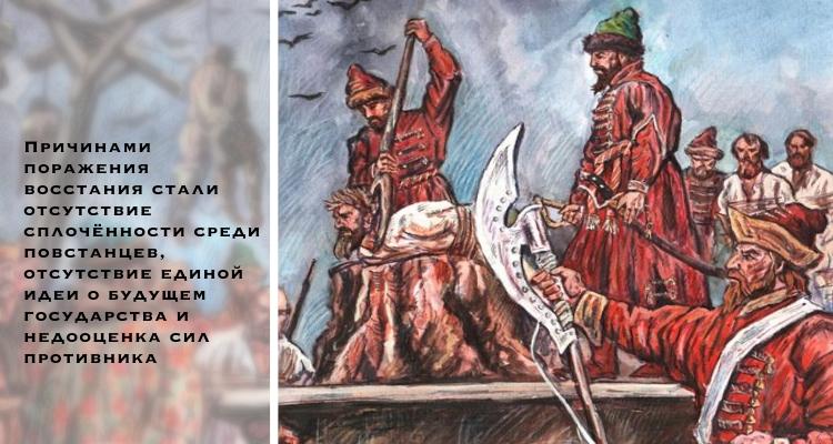 Причины поражения крестьянского восстания Болотникова