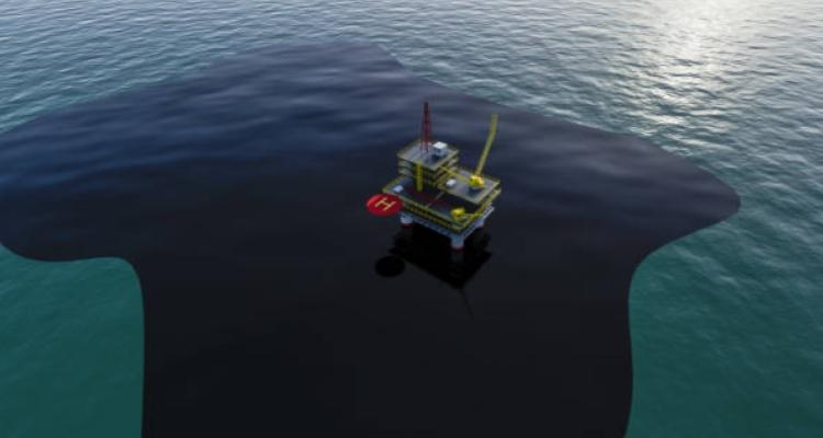 Загрязнение воды нефтяными платформами